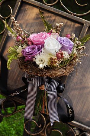 cocobolo american style simple elegant rose wedding bouquet │ Catherine 美式簡雅新娘捧花