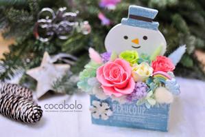 cocobolo 冬季創作  The Snowman / 雪人彩虹恆星花禮