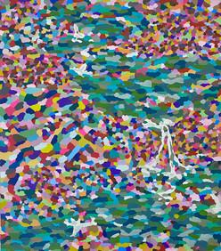 """""""Sonhei que eu era um rio"""" tinta acrílica sobre papel Paraná 2020"""