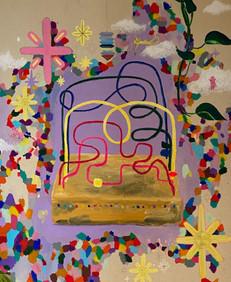 Giz pastel oleoso, lápis grafite e tinta guache sobre papel Paraná 2020