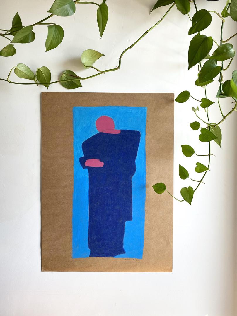 giz pastel oleoso sobre cartolina craft 2017