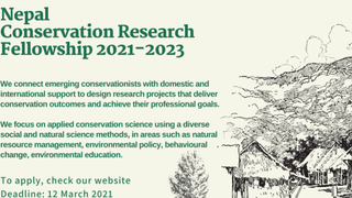 2021 Call: Nepal Conservation Research Fellowship