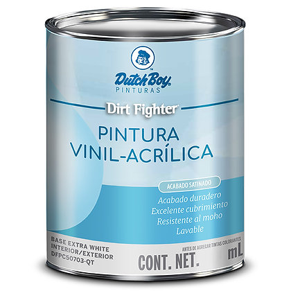 PINTURA DIRT MATE NEUTRAL .860 lts DUTCH BOY, MOD: DFPC50609-QT