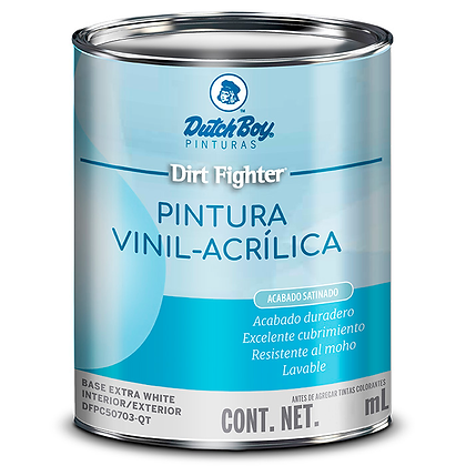 PINTURA DIRT SATIN PASTEL .920 lts DUTCH BOY, MOD: DFPC50703-QT
