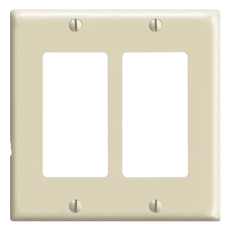 TAPA DECORATIVA DOBLE MARFIL, LEVITON, No 80409