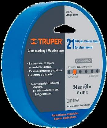 TAPE AZUL 1-1/2 36MM X 50 MT, TRUPER