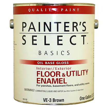 PINTURA PISO BASE ACEITE GLOSS T.RED 3.72 lts PAINTERS SELECT, MOD:151186