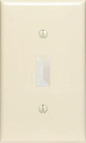 TAPA PARA APAGADOR SENCILLO MARFIL, LEVITON, No 86001