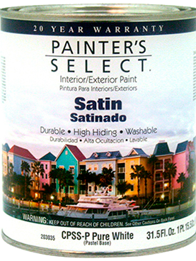 PINTURA INT/EXT SATIN PASTEL 3.72 lts PAINTERS SELECT, MOD:203033