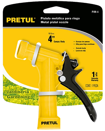 "PISTOLA PLASTICA PARA RIEGO 3/4"" PRETUL MOD:PIM 4P"