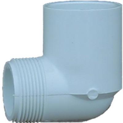 CODO CONECTOR MACHO 1 LADO PVC 3/4 X 90