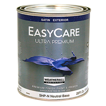 PINTURA EXTERIOR SATIN NEUTRAL .827 lts EASY CARE, MOD:859945