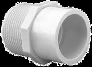 CONECTOR MACHO PVC 1/2