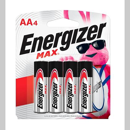 "PILA ""AA"" ALCALINA 4 PQ ENERGIZER, MOD:AA4"