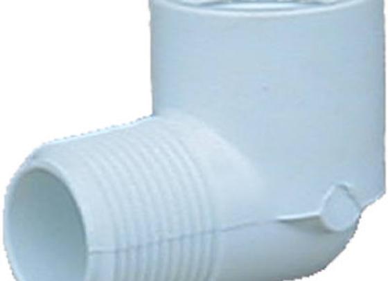 CODO CONECTOR MACHO 1 LADO PVC DURA 1/2 X 90, MOD: 410-005D