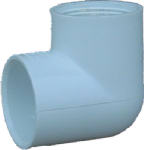 CODO CONECTOR HEMBRA 1 LADO PVC DURA 3/4 X 90, MOD: 407-007D