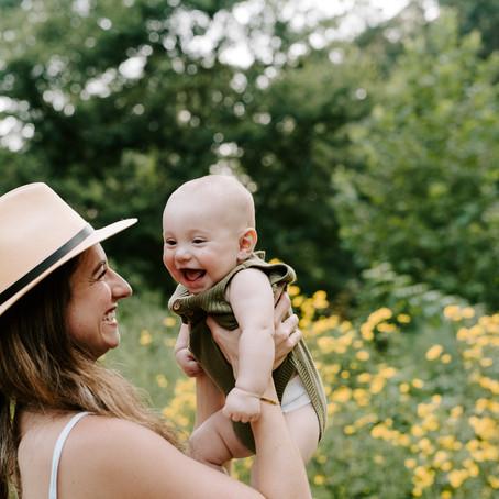 6 Month Family Session // Eastover Park // Charlotte, NC