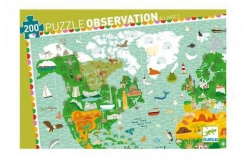 DJECO puzzle observation TOUR DU MONDE