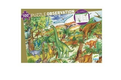 DJECO puzzle observation DINOSAURE