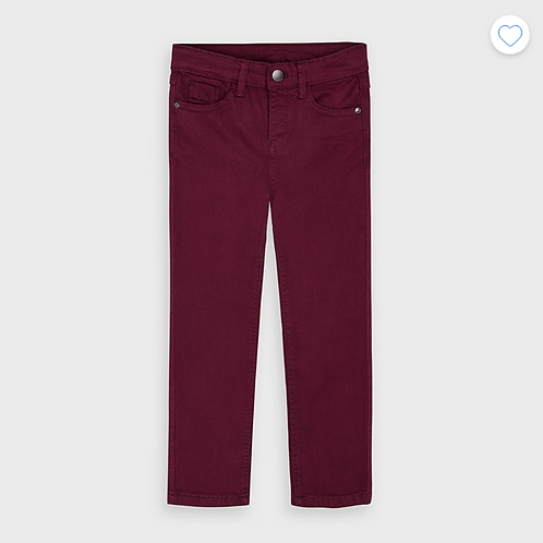 Mayoral pantalon slim fit bordeaux