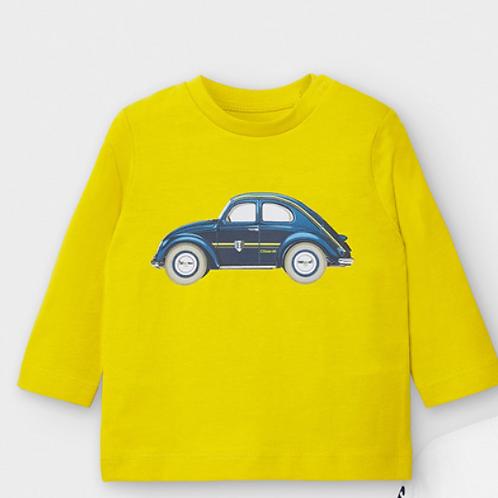 Mayoral t-shirt jaune voiture