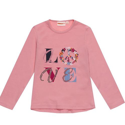 UBS2 t-shirt rose imprimé LOVE