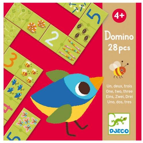 DJECO jeu éducatif DOMINO UN DEUX TROIS