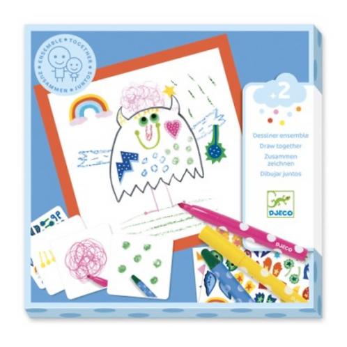 DJECO coloriage pour les petits ENSEMBLE PETITS MONSTRES