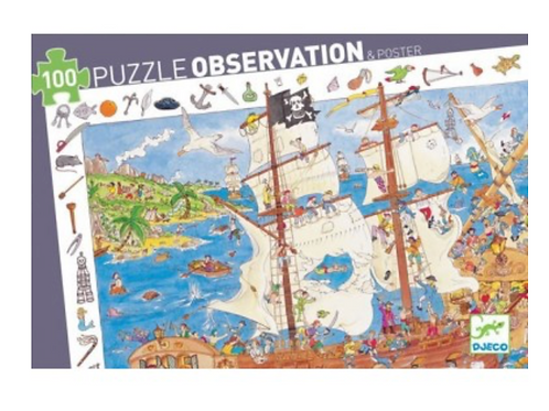 DJECO puzzle observation LES PIRATES