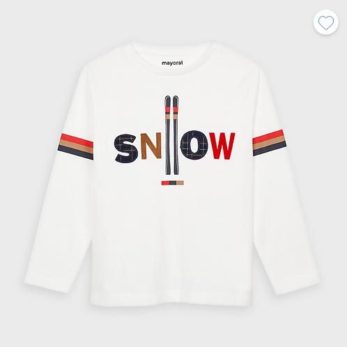 Mayoral t-shirt blanc ski