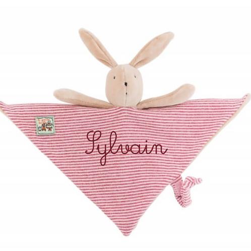 Doudou Sylvain le lapin personnalisé