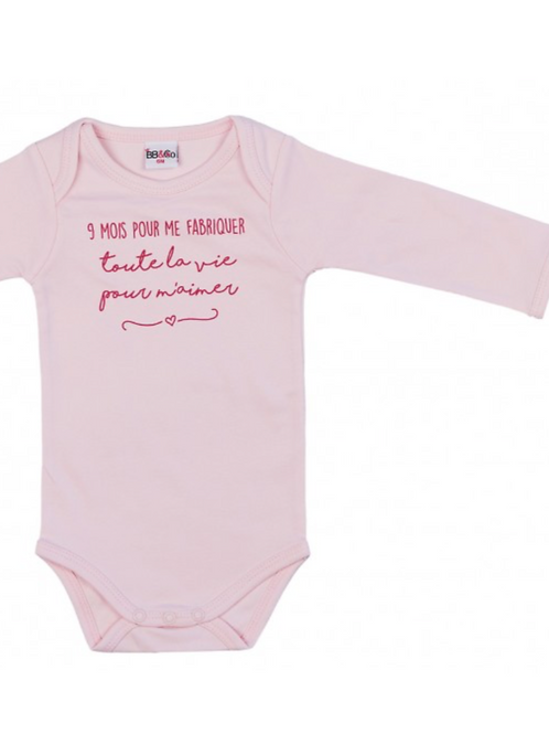 BB&co Body manches longues roses