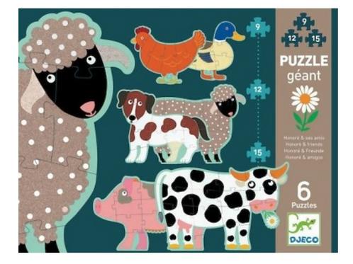 DJECO puzzle évolutif HONORÉ & SES AMIS