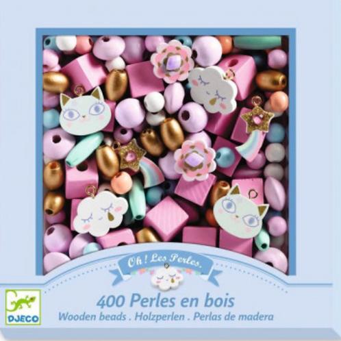 DJECO foison de perles PERLES EN BOIS ARC EN CIEL