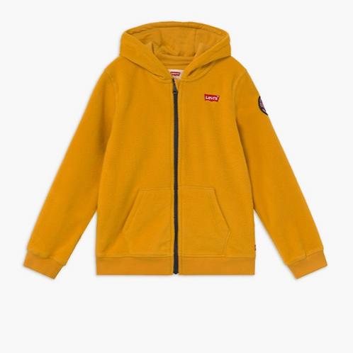 Levi's kids veste polaire zipppée moutarde