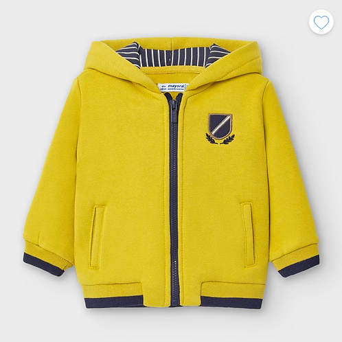 Mayoral veste sweat zippée jaune