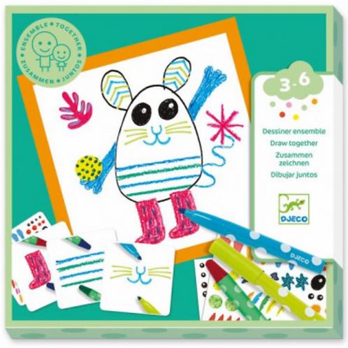 DJECO coloriage pour les petits ENSEMBLE ANIMAUX RIGOLOS