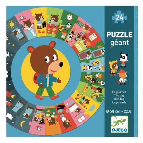 DJECO puzzle géant LA JOURNÉE