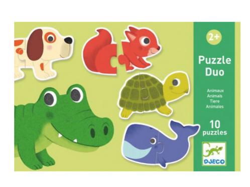 DJECO puzzle duo DUO ANIMAUX