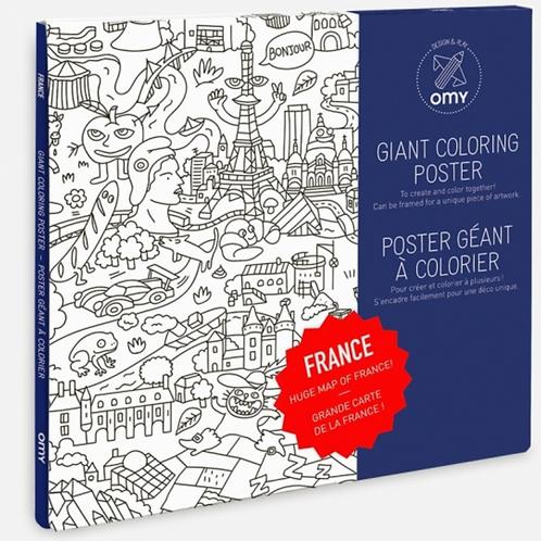 OMY poster géant à colorier FRANCE