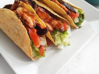 Receta: Hongos shiitake a la BBQ con tortillas de maíz
