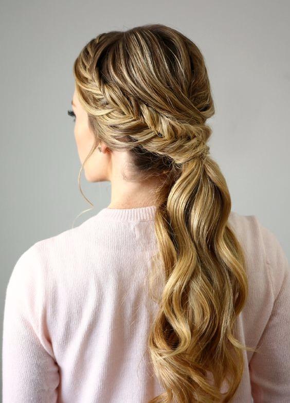 Peinados para novias con cola