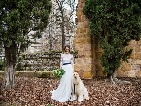 Novias que deciden casarse en blanco y negro