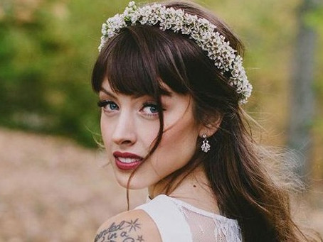 Peinados para novias con chasquilla