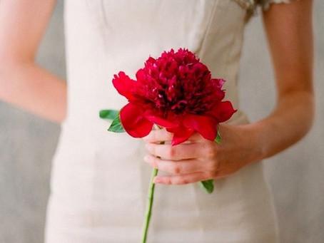 Ramos de novia con una sola flor