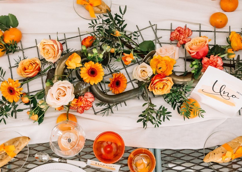 Una boda color naranja
