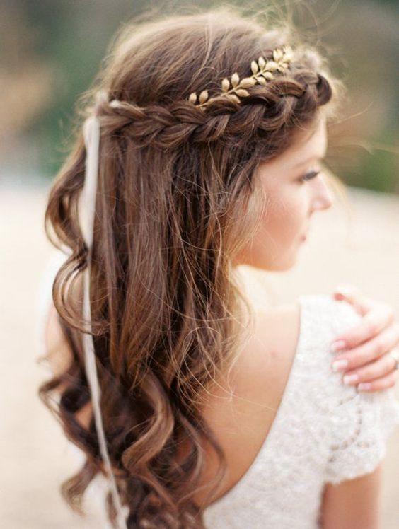 Peinados de novia con trenza