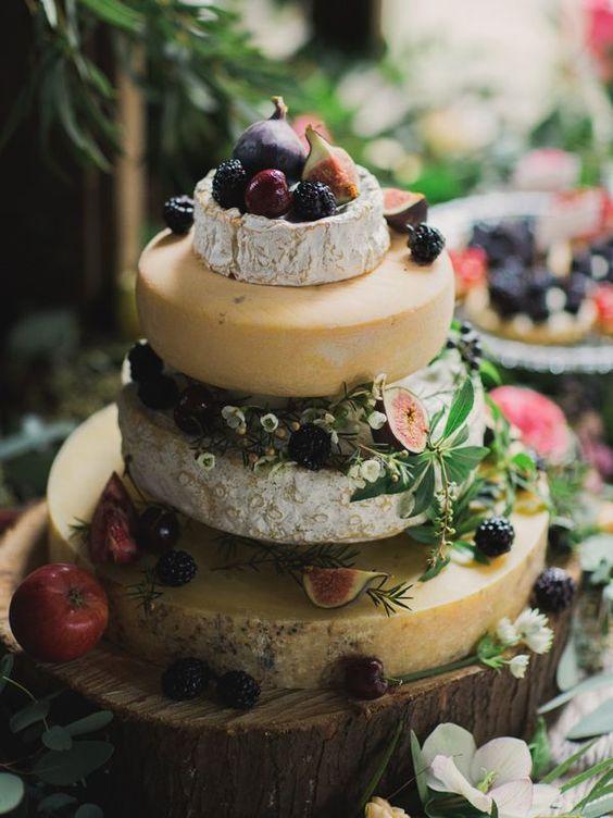 Pasteles de boda de quesos