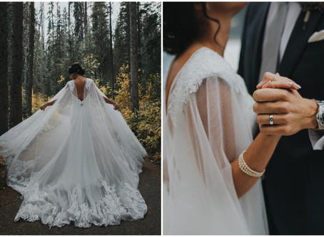 El nuevo velo de novia es la capa
