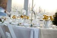 Decoración floral para matrimonios minimalistas